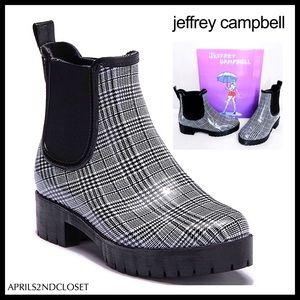 JEFFREY CAMPBELL BLACK PLATFORM RAIN BOOTS A2C